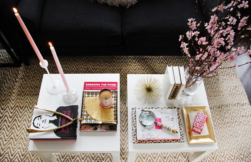 coffee-table-decor-tips-white-pink-gold