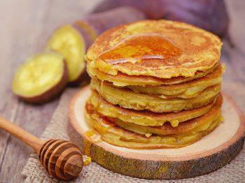 pancakes με γλυκοπατάτα