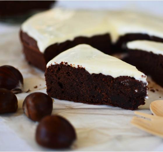 Κέικ σοκολάτας με πουρέ κάστανο