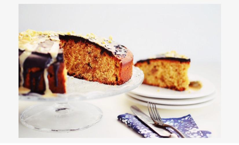 Κέικ με πορτοκάλι και ταχίνι