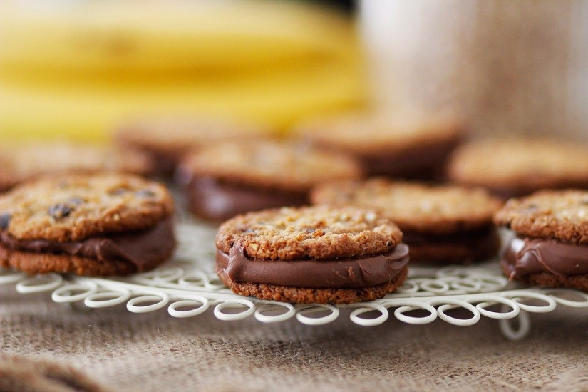 Μπισκότα γεμιστά με ταχίνι