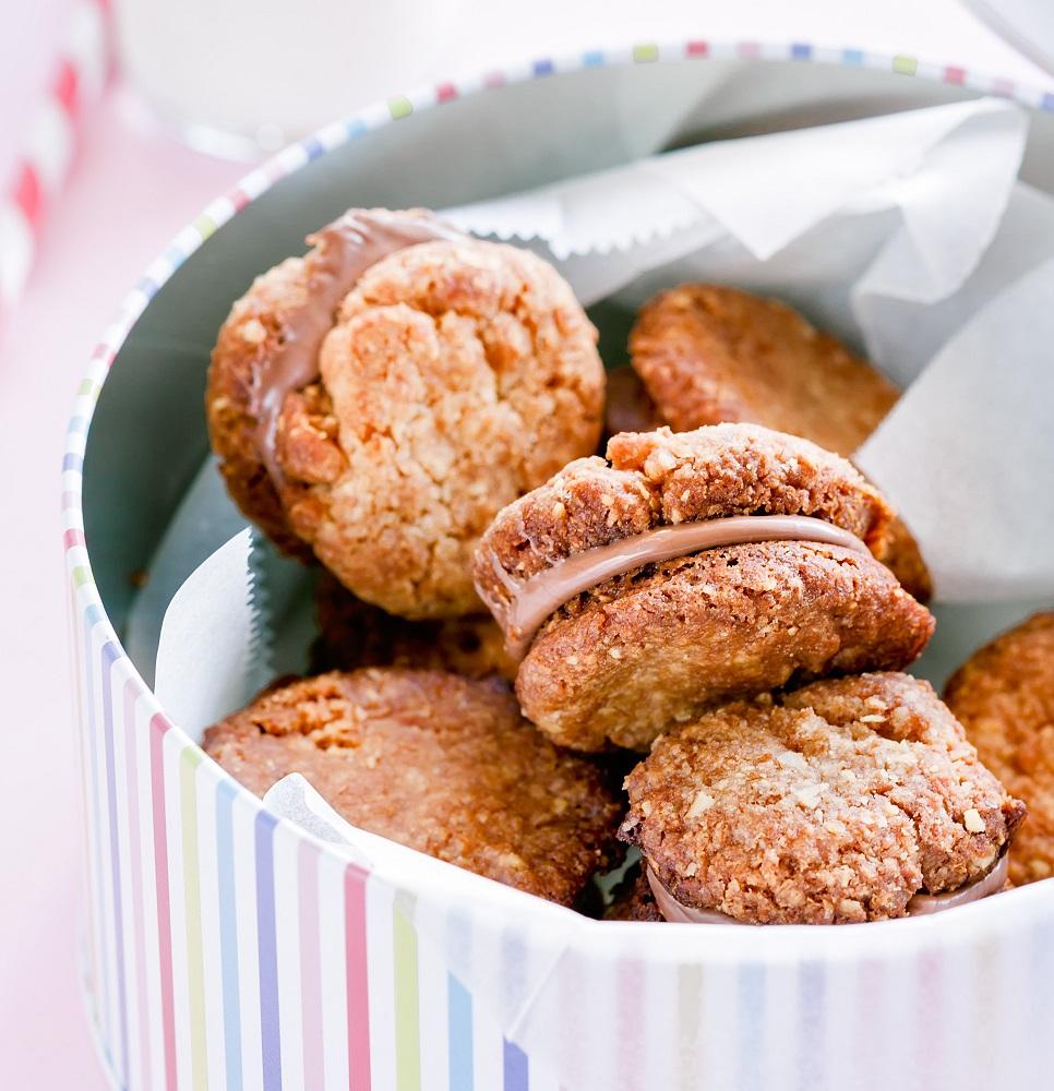 μπισκότα βρώμης με φυστικοβούτυρο