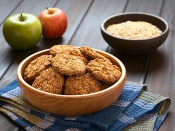 μπισκότα βρώμης με μήλο