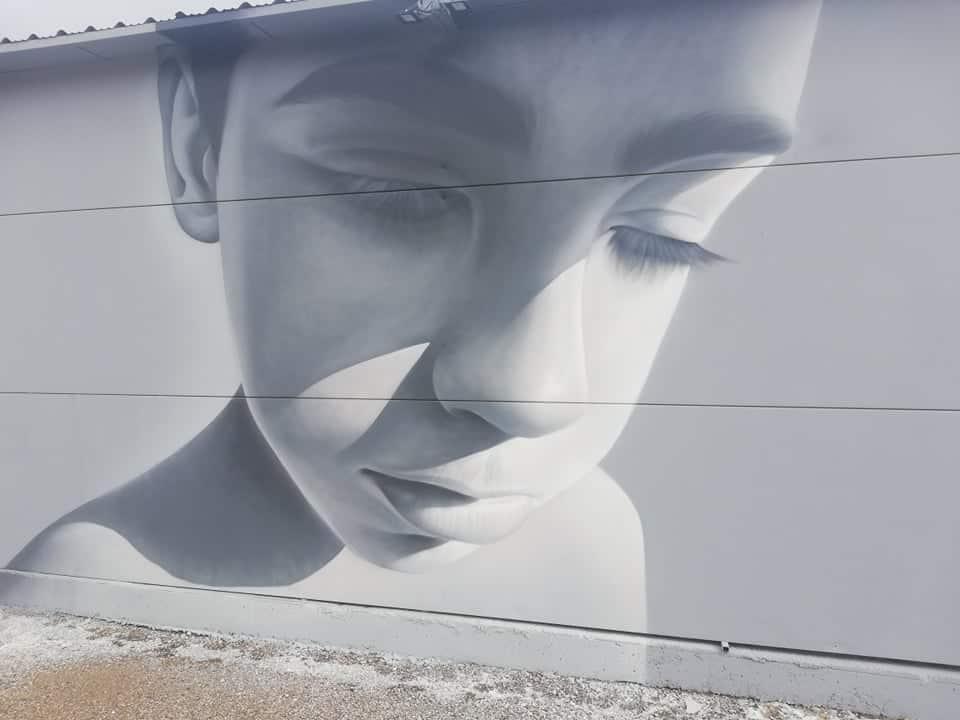 Ένα υπέροχο γκράφιτι του αδικοχαμένου 15χρονου Βασίλη Πλούμη κοσμεί Γυμνάσιο στο Μεσολόγγι