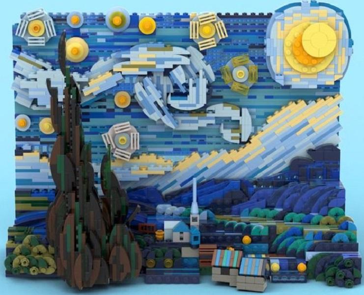 H Έναστρη Νύχτα του Βαν Γκογκ γίνεται Lego και εμφυσεί στα παιδιά την αγάπη για τη ζωγραφική