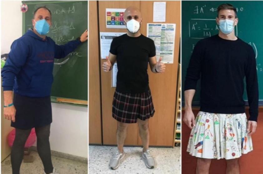 Δάσκαλοι φόρεσαν φούστες