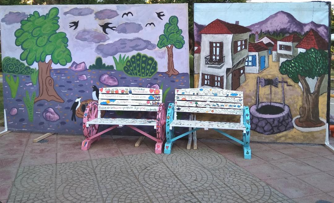 «Φορητά» παγκάκια ανάγνωσης από μαθητές δημοτικού σχολείου