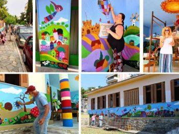Καβάλα: Ένας τοίχος παιδικού σταθμού διηγείται το δικό του παραμύθι